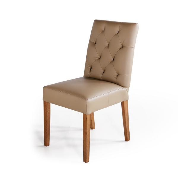 實木餐桌推薦|Bella 貝菈全牛皮餐椅|睡眠王國集團