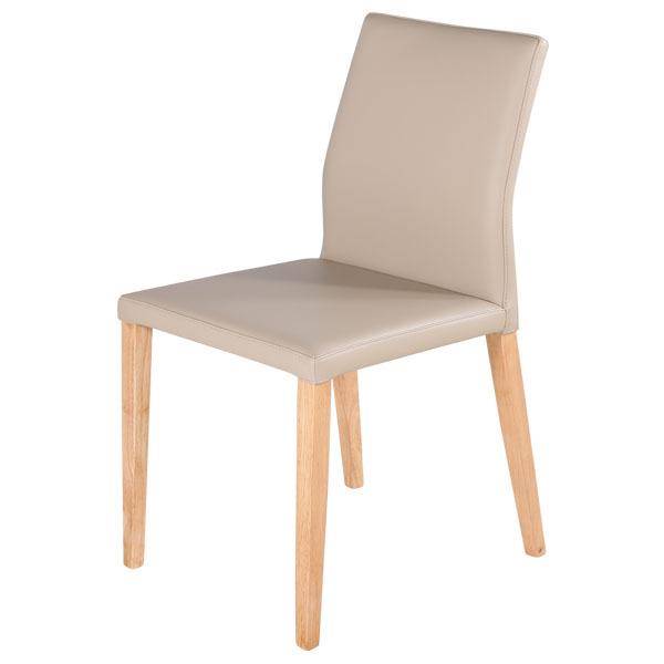 實木餐桌推薦 Flora 芙蘿菈全牛皮餐椅(二色) 睡眠王國集團