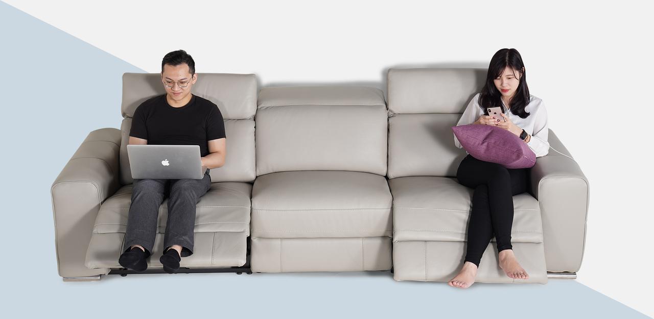 電動沙發推薦 Luka 盧卡全牛皮電動沙發 睡眠王國集團